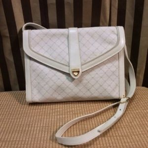 Vintage Bally Cream Cross Over Handbag/Purse